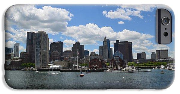 Boston iPhone Cases - Boston Skyline iPhone Case by DejaVu Designs