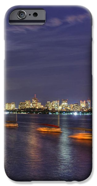 Charles River iPhone Cases - Boston Skyline from Memorial Drive iPhone Case by Joann Vitali