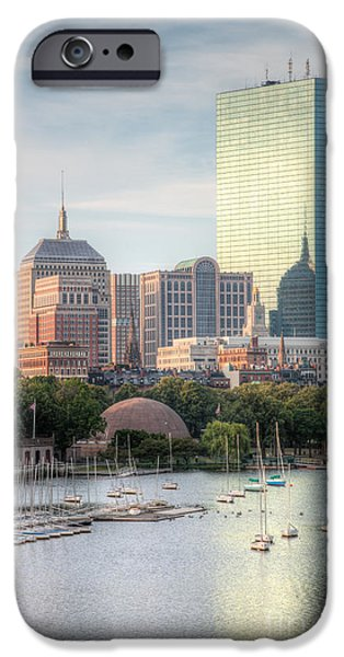 Charles River iPhone Cases - Boston Skyline II iPhone Case by Clarence Holmes