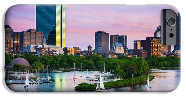 Recently Sold -  - City. Boston iPhone Cases - Boston Skyline iPhone Case by Inge Johnsson