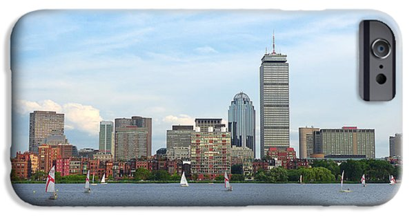 Charles River iPhone Cases - Boston Skyline iPhone Case by Joseph Desmond