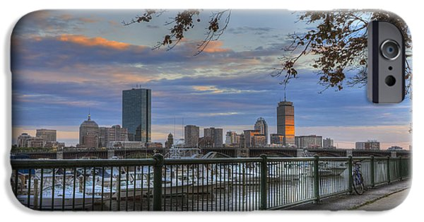 City. Boston iPhone Cases - Boston Skyline on the Charles River iPhone Case by Joann Vitali