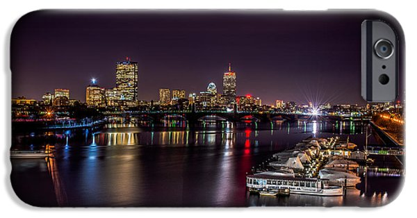 Charles River iPhone Cases - Boston Skyline over the Charles River iPhone Case by Tom Wilder