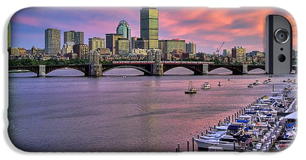 Joann Vitali iPhone Cases - Boston Skyline Sunset iPhone Case by Joann Vitali
