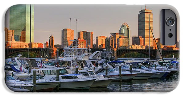 Charles River iPhone Cases - Boston skyline Sunset on the Charles iPhone Case by Joann Vitali