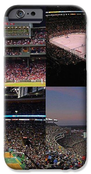 Boston Sports Teams and Fans iPhone Case by Juergen Roth