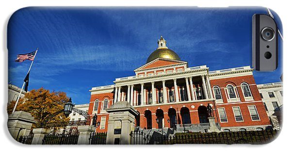 Oxford. Oxford Ma. Massachusetts iPhone Cases - Boston State House iPhone Case by Toby McGuire