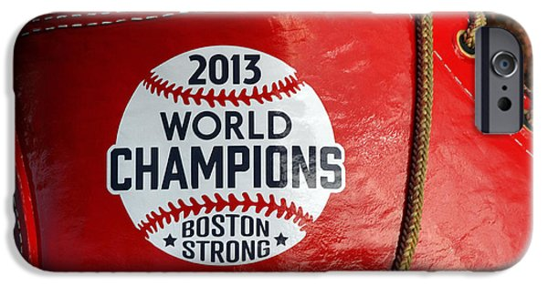 Red Sox iPhone Cases - Boston Strong 2013 World Champions iPhone Case by Juergen Roth