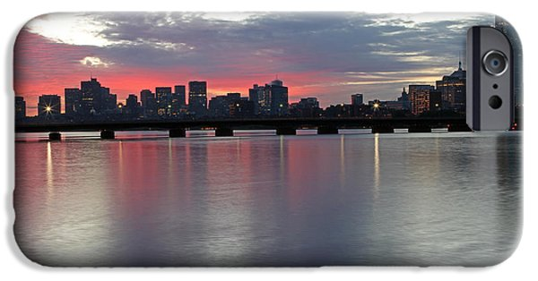 Charles River iPhone Cases - Boston Sunrise iPhone Case by Juergen Roth