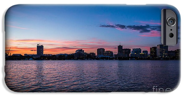 Boston Ma iPhone Cases - Cambridge Sunset iPhone Case by Stephen Allen