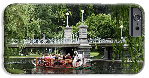 Swans... iPhone Cases - Boston Swan Boat iPhone Case by Christiane Schulze Art And Photography