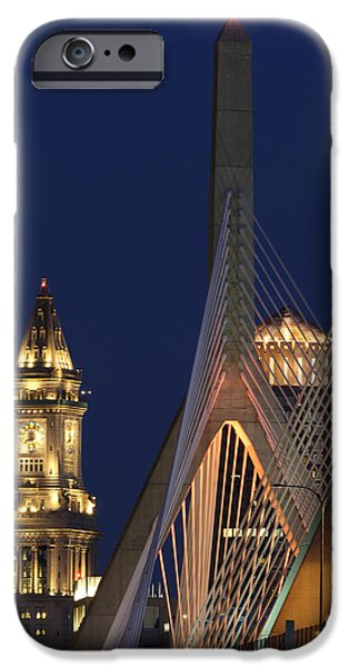 City. Boston iPhone Cases - Boston Tall and Strong iPhone Case by Juergen Roth