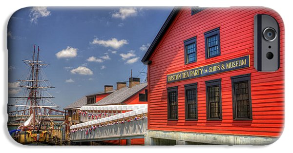 Tea Party iPhone Cases - Boston Tea Party Museum 3 iPhone Case by Joann Vitali