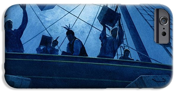 Moonlit iPhone Cases - Boston Tea Party iPhone Case by Rob Wood
