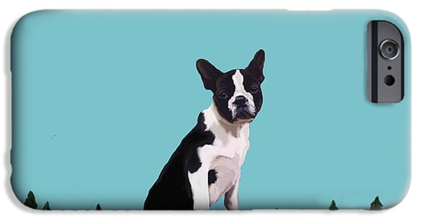 Black Dog iPhone Cases - Boston Terrier iPhone Case by Marjorie Weiss