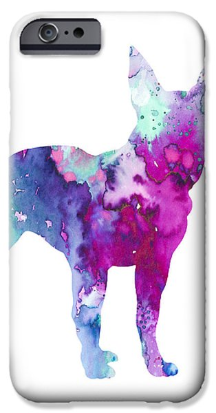 Recently Sold -  - Boston iPhone Cases - Boston Terrier 4 iPhone Case by Luke and Slavi