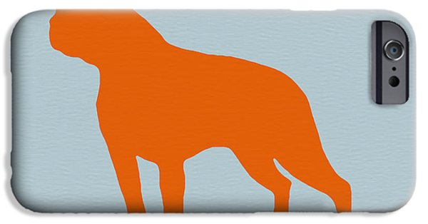 Pets Art iPhone Cases - Boston Terrier Orange iPhone Case by Naxart Studio