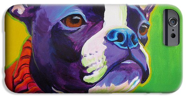 Pup iPhone Cases - Boston Terrier - Ridley iPhone Case by Alicia VanNoy Call