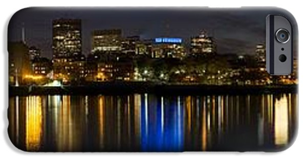 Charles River iPhone Cases - Boston Twilight iPhone Case by Dave Files
