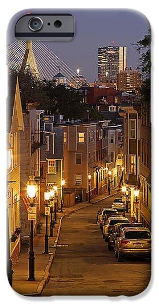 City. Boston iPhone Cases - Boston View from Charlestown iPhone Case by Juergen Roth