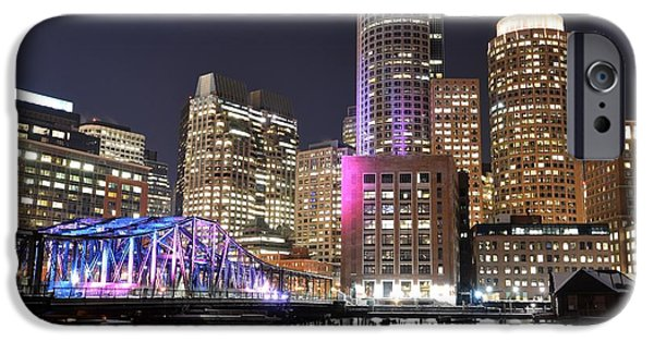 Charles River Digital Art iPhone Cases - Boston Waterfront iPhone Case by Toby McGuire