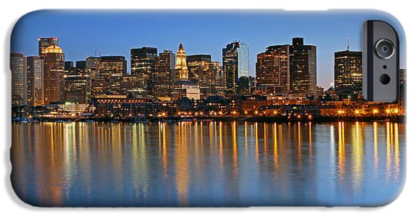 Boston Nightscape iPhone Cases - Boston you are my Home iPhone Case by Juergen Roth