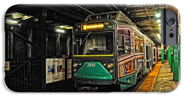 Boston Ma iPhone Cases - Bostons MBTA Green Line iPhone Case by Mike Martin