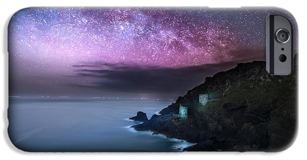 Stargazing iPhone Cases - Botallack Mines iPhone Case by Ollie Taylor