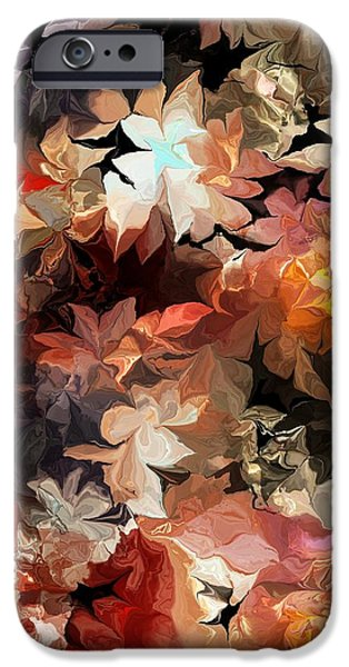 Abstract Digital iPhone Cases - Botanical Fantasy 061713 iPhone Case by David Lane