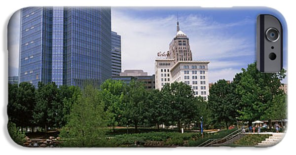 Botanical iPhone Cases - Botanical Garden With Skyscrapers iPhone Case by Panoramic Images