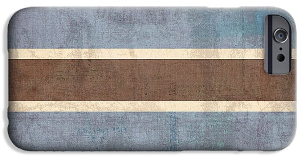 Nation iPhone Cases - Botswana Flag Vintage Distressed Finish iPhone Case by Design Turnpike