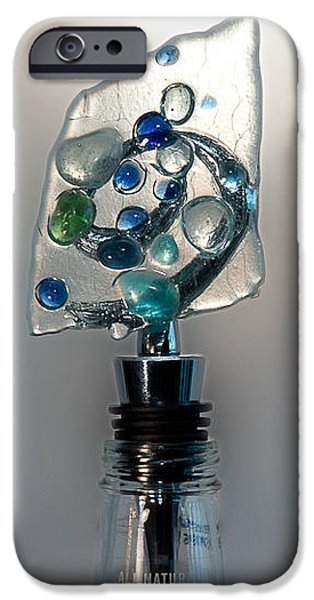 Wine Bottle Glass iPhone Cases - Bottle Stopper 03 iPhone Case by Crush Creations