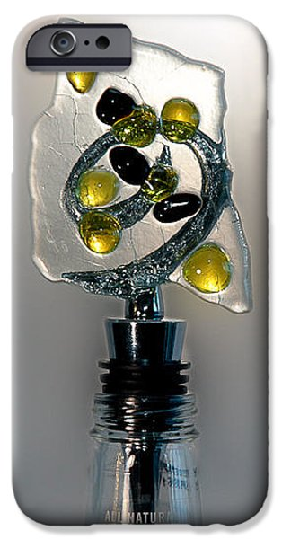 Wine Bottle Glass iPhone Cases - Bottle Stopper 04 iPhone Case by Crush Creations