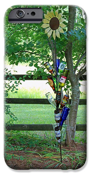Fine Bottle iPhone Cases - Bottle Tree iPhone Case by Suzanne Gaff