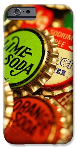 Bottlecaps iPhone Cases - Bottlecaps iPhone Case by Andrew Stolte