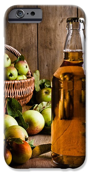 Bottled Cider With Apples iPhone Case by Amanda And Christopher Elwell