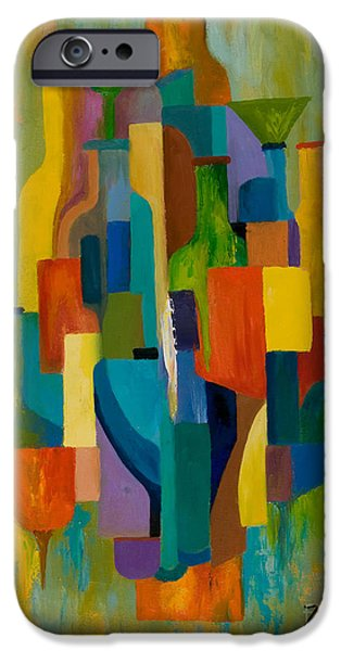 Abstracted iPhone Cases - Bottles and Glasses iPhone Case by Larry Martin