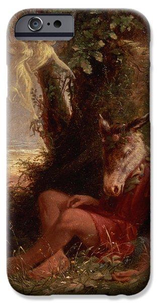 Fairies iPhone Cases - Bottom Asleep, 1891 iPhone Case by Sir Hubert von Herkomer