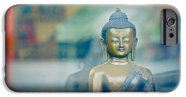 Tibetan Buddhism iPhone Cases - Boudha Nepal iPhone Case by Raimond Klavins