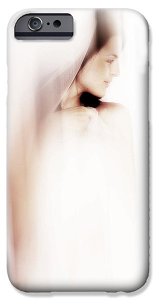 Innocence iPhone Cases - Boudoir Photography 12. Impressionism. Exclusively For Faa iPhone Case by Jenny Rainbow