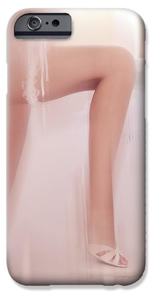 Innocence iPhone Cases - Boudoir Photography 17. Impressionism. Exclusively for FAA iPhone Case by Jenny Rainbow
