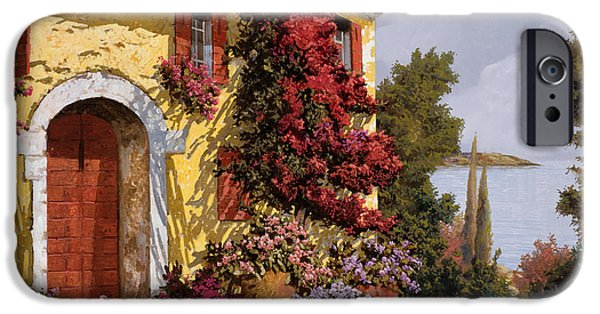 Landscape. Scenic iPhone Cases - Bouganville iPhone Case by Guido Borelli