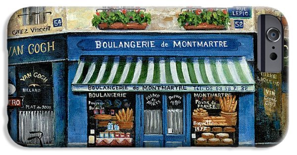 Shops iPhone Cases - Boulangerie de Montmartre iPhone Case by Marilyn Dunlap