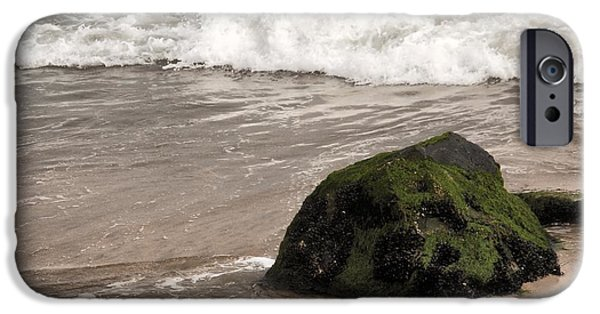 Bay Head Beach iPhone Cases - Boulder And The Wave - Jersey Shore iPhone Case by Angie Tirado