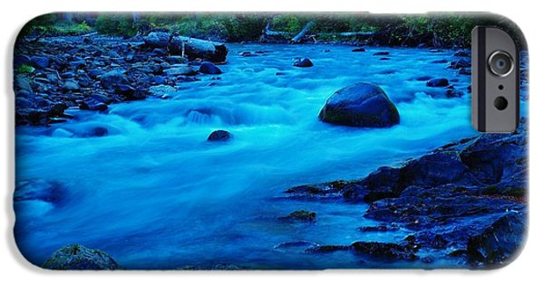 West Fork iPhone Cases - Boulder In The Rapids  iPhone Case by Jeff  Swan