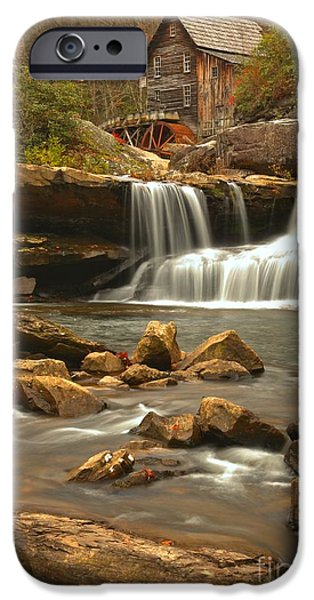 Grist Mill iPhone Cases - Boulders Below Glade Creek iPhone Case by Adam Jewell