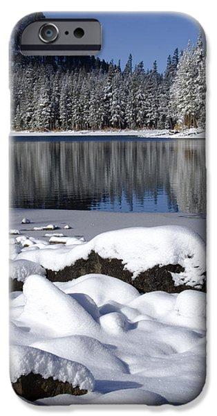Snow Scene iPhone Cases - Boulders of McLeod iPhone Case by Chris Brannen