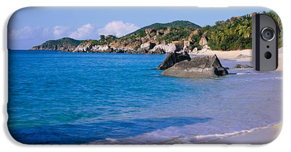 West Indies iPhone Cases - Boulders On The Beach, The Baths iPhone Case by Panoramic Images