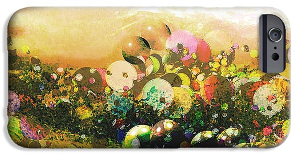 Strange iPhone Cases - Bouncing Landscape iPhone Case by Robert St Clair