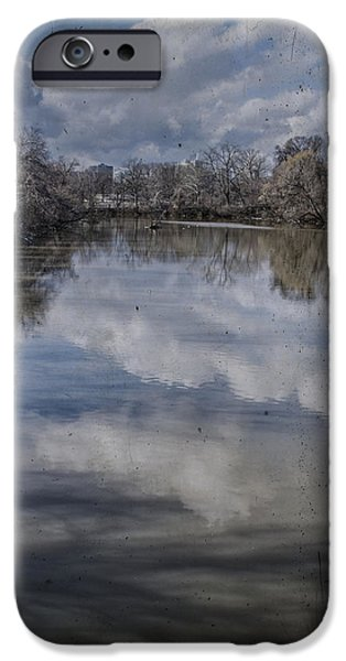 Boundary Channel Reflections iPhone Case by Terry Rowe